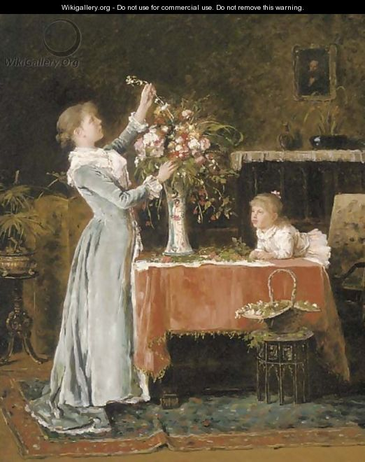 The flower arranger - English School
