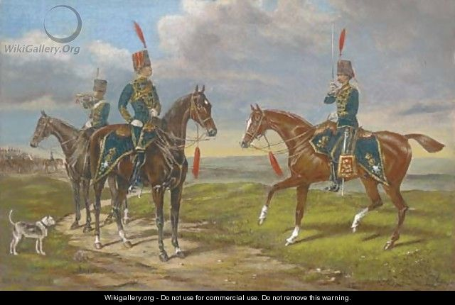 Hussars on manoeuvres - English School