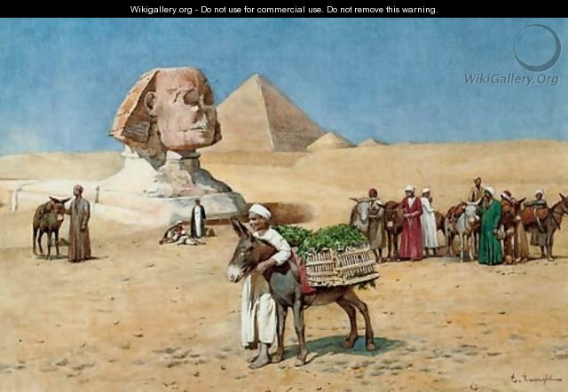 A vegetable seller before the Sphinx, Egypt - Enrico Tarenghi