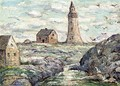 Lighthouse at Peggy's Cove, Nova Scotia - Ernest Lawson
