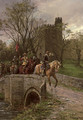 Cromwellian soldiers leaving Warwick Castle - Ernest Crofts