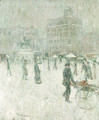 Union Square, New York in Winter - Ernest Lawson