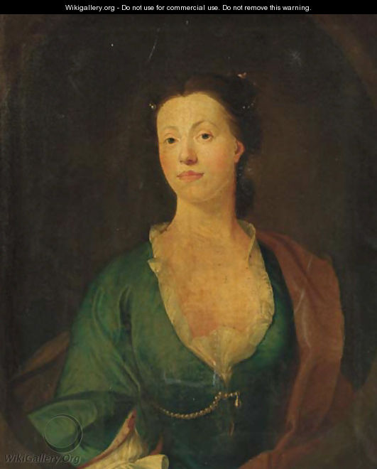 Portrait of Anne Lancelot - English School