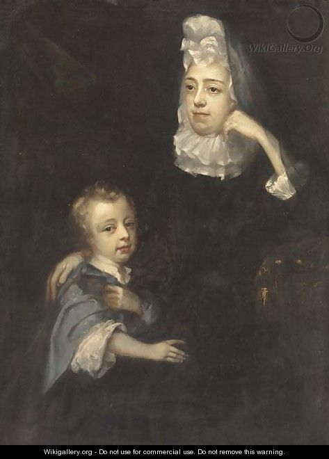 Portrait of a mother and child 2 - English School