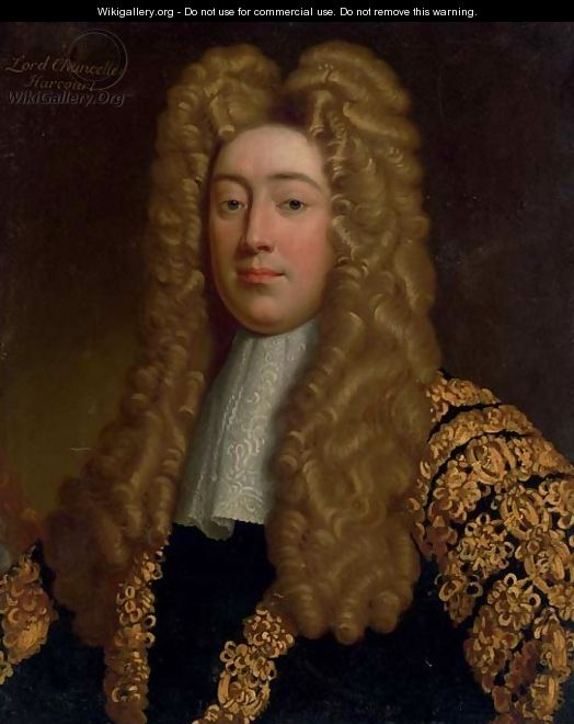 Portrait of Simon, Viscount Harcourt, Lord Chancellor of England (1661-1727) - English School