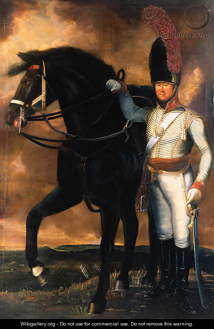 Portrait of Captain Christopher Dunkin of the Surrey Yeomanry - English School
