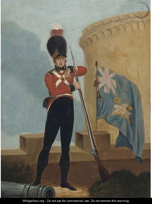 Portrait of a private from the Fourth Loyal London Volunteers - English School