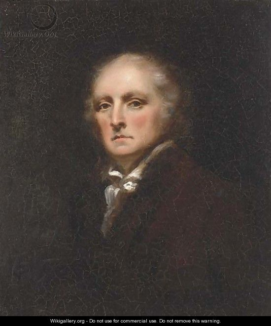 Portrait of gentleman, small bust-length, in brown jacket - English School