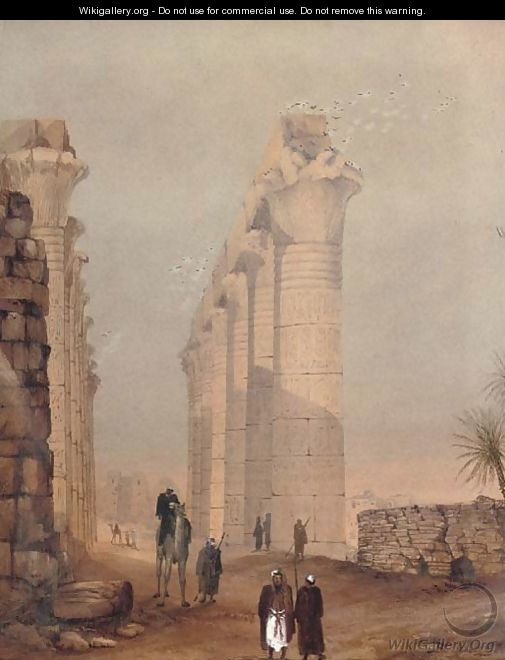 The temple complex at Edfu, Egypt - English School