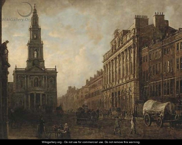 The Strand with Somerset House and St. Mary le Strand - English School