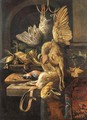 A dead pheasant and a dead pigeon - (after) Jan Weenix