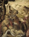 The Holy Family with the Infant Saint John the Baptist - (after) Jan Van Scorel