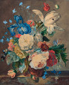 A still life of flowers - (after) Huysum, Jan van