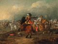 A cavalry engagement - (after) Jan Van Huchtenburgh