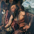 The Penitent Saint Jerome in a cave - (after) Jan Sanders Van Hemessen