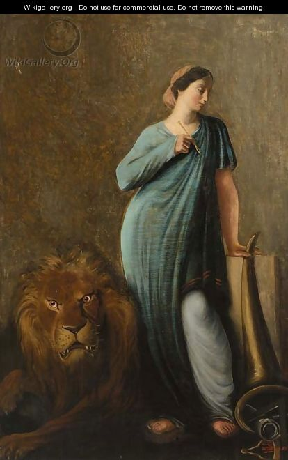 Saint Thecla - (after) Jean Hippolyte Flandrin