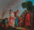 Orientals bargaining over a slave - (after) Jean Baptiste Leprince