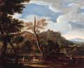 An extensive landscape with a deer hunt - (after) Jan Wyck
