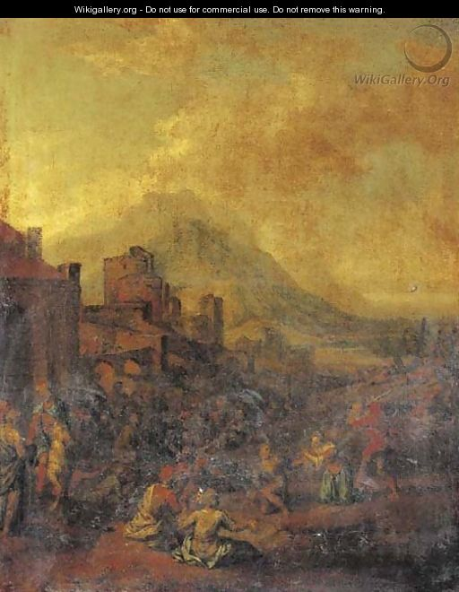 A captured city with prisoners being executed - (after) Jan Wyck
