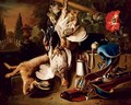 Game and a hare with a rifle - (after) Jan Weenix