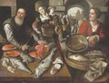 Peasant women buying fish at a fishmonger - (after) Joachim Beuckelaer