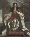 Portrait of William III, full-length, in coronation robes - (attr.to) Closterman, Johann
