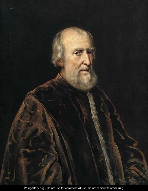 Portrait of an elderly gentleman - (after) Jacopo Tintoretto (Robusti)