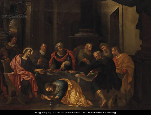 Christ in the House of Simon the Pharisee - (after) Jacopo Tintoretto (Robusti)