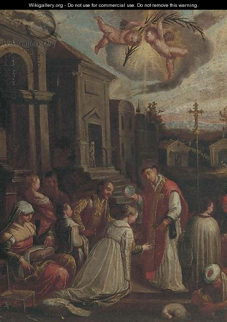 The Baptism of Saint Ludmilla - (after) Jacopo Bassano (Jacopo Da Ponte)