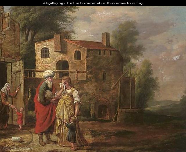 The dismissal of Hagar - (after) Jacob Pynas