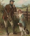 A gamekeeper and his daughter - (after) James Jnr Hardy