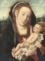 The Virgin and Child in an extensive wooded landscape - (after) Jan Provost