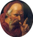 A 'tronie' of a bearded old man, possibly Saint Jerome - (after) Hendrick Goltzius