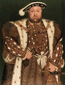 Portrait of King Henry VIII (1491-1547), three-quarter-length, in an ermine-lined brocaded cloak - (after) Holbein the Younger, Hans
