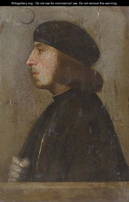 Portrait of a gentleman, bust-length, in profile - (after) Holbein the Younger, Hans
