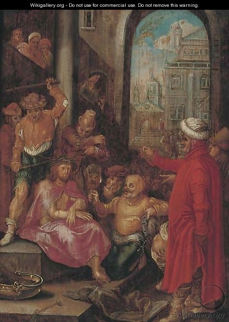 The Mocking of Christ - (after) Hieronymus Francken