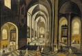 The interior of a gothic church, looking east - (after) Hendrick Van, The Younger Steenwyck