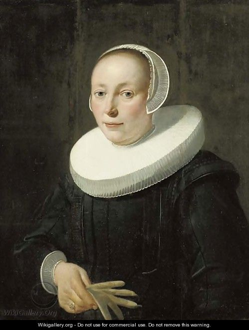Portrait of a lady - (after) Jacob Gerritsz. Cuyp