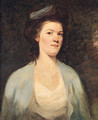 Portrait Of A Lady, Half-Length, In A White And Blue Dress - (after) Romney, George