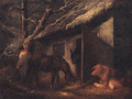 A Winter Stable - (after) Of George Morland