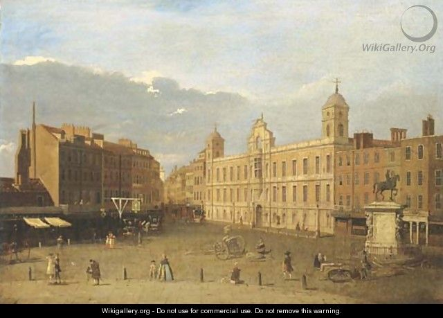 Northumberland House, London - (after) (Giovanni Antonio Canal) Canaletto