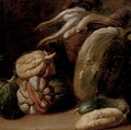 Melons and root vegetables in a basket, a fragment - (after) Giacomo Ceruti (Il Pitocchetto)