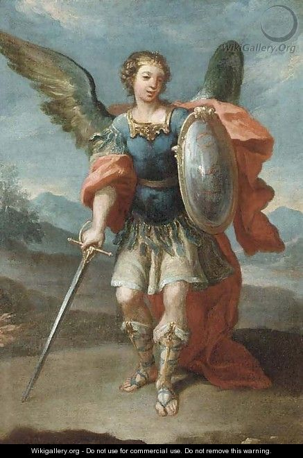 The Archangel Saint Michael - (after) Giovanni Battista The Younger Pittoni