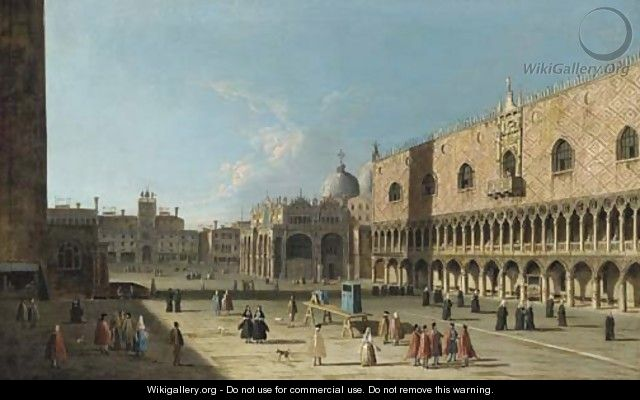Venice, the Piazza San Marco from the Piazzetta - (after) (Giovanni Antonio Canal) Canaletto