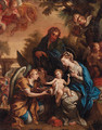 The Holy Family with Angels presenting the Instruments of the Passion - (after) Giulio Cesare Procaccini