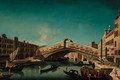 The Rialto Bridge, Venice - (after) Francesco Albotto