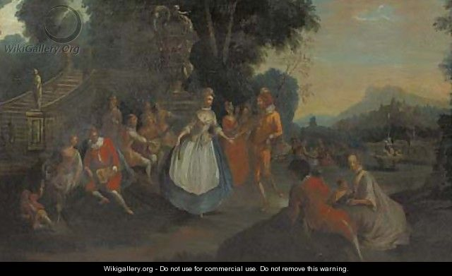 A fete champetre - (after) Francois Boucher