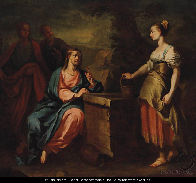 Christ and the Woman of Samaria - (after) Francesco Trevisani