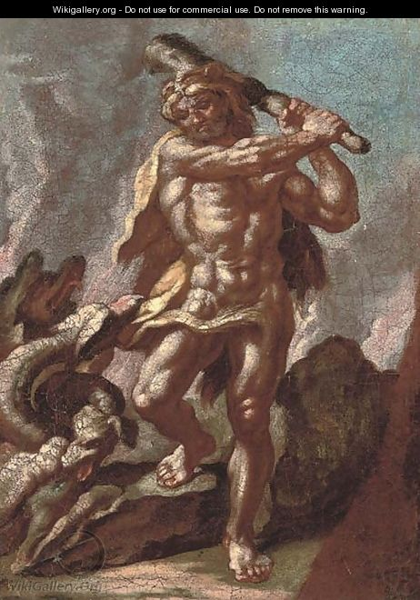 Hercules and Achelous - (after) Francesco Solimena