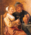 A couple seated at a table - (after) David The Younger Teniers